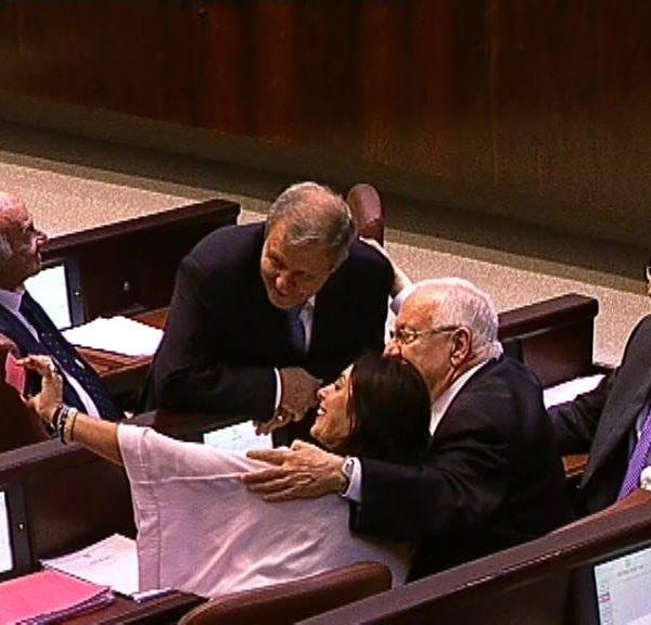 סלפי חברי כנסת (צילום מסך: ערוץ הכנסת)