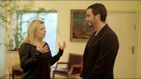 מושיק גלאמין מבקר בבית ראש הממשלה