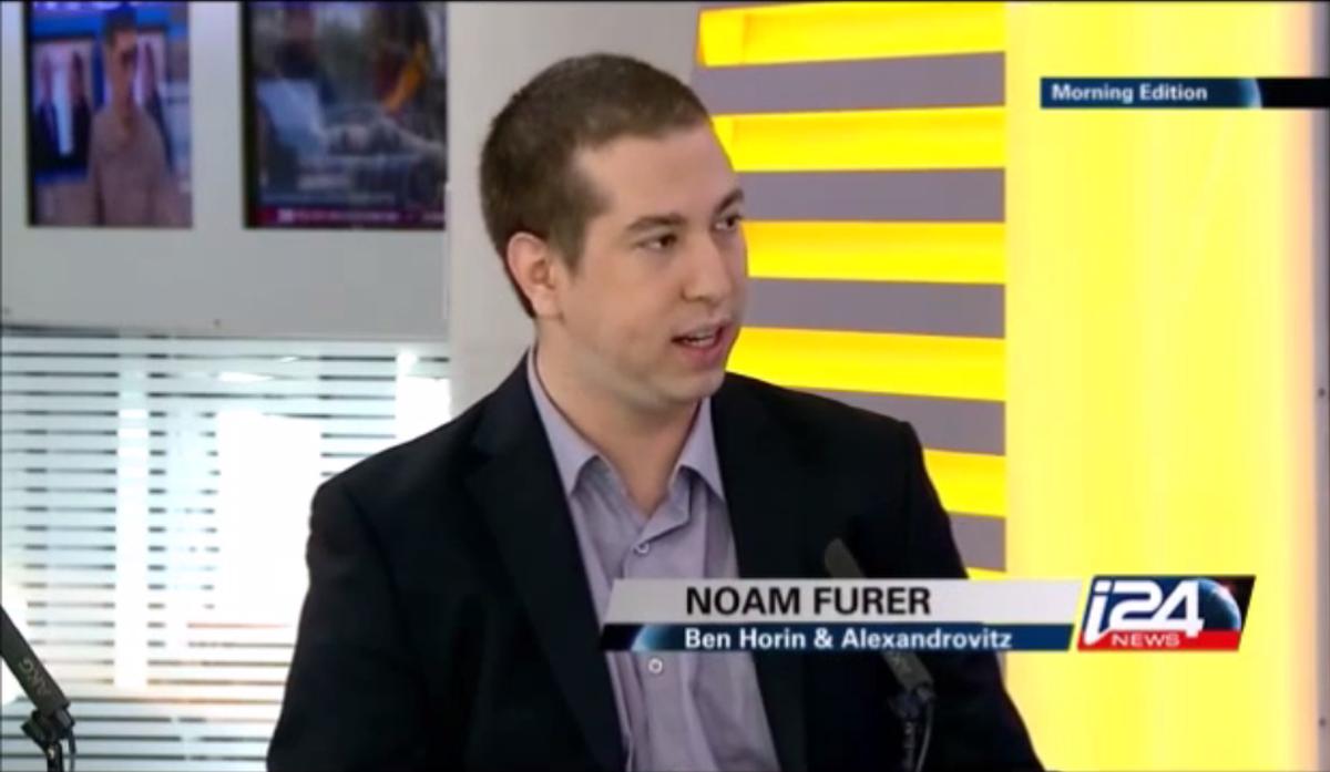 נועם פורר מתראיין ב-i24 news